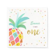 Pineapple Paper Napkins Birthday Tropical Aloha