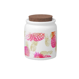 Pineapple Party Candy Jars