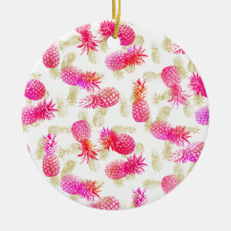 Pineapple Party Ceramic Ornament