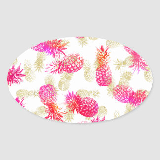 Pineapple Party Oval Sticker