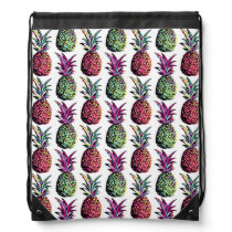 Pineapple Party Pattern Drawstring Backpack