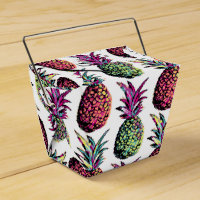 Pineapple Party Pattern Favor Box