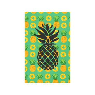 Art Themed Pineapple Party Picture Canvas Print