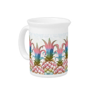 Pineapple Pastel Gradient ID246 Beverage Pitcher