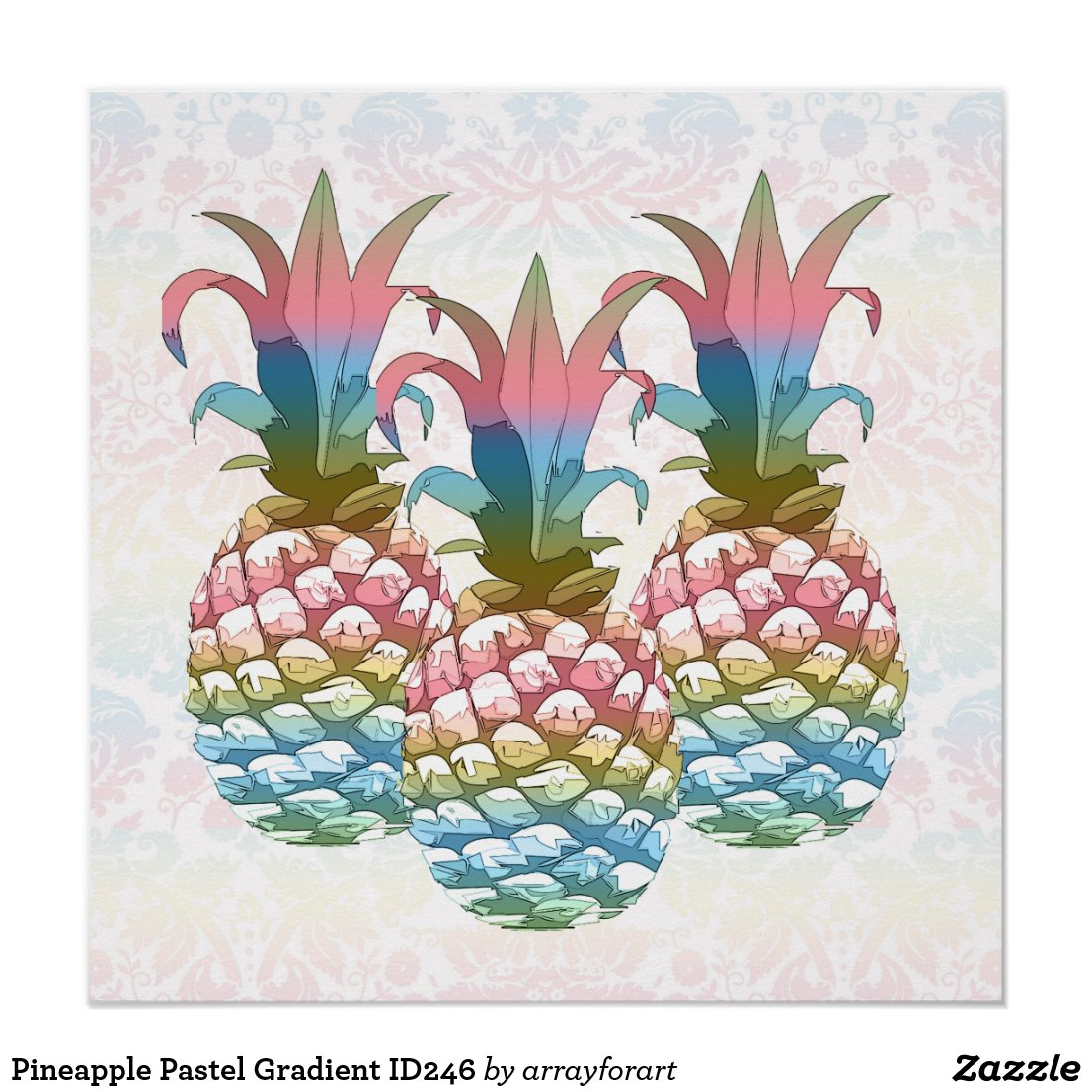 Pineapple Pastel Gradient ID246 Poster