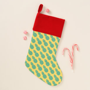 pineapple pattern add your initial christmas stocking