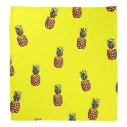 pineapple pattern bandana