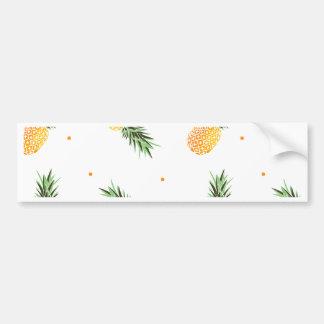 Pineapple Pattern Bumper Sticker