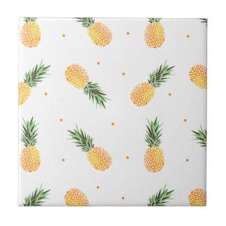 Pineapple Pattern Ceramic Tile