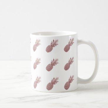 Coffee Themed Pineapple Pattern Coffee Mug