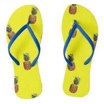 Pineapple pattern flip flops