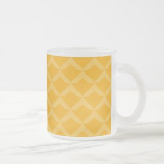 Pineapple Pattern... Frosted Glass Coffee Mug
