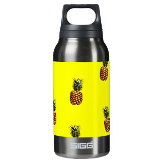 pineapple pattern insulated water bottle