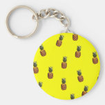 pineapple pattern key chain