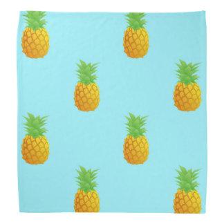 Pineapple Pattern on Blue Bandana