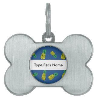 Pineapple Pattern on Pet Name Tag