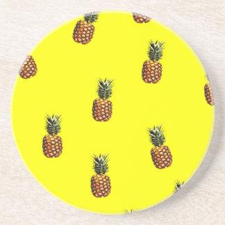 pineapple pattern sandstone coaster