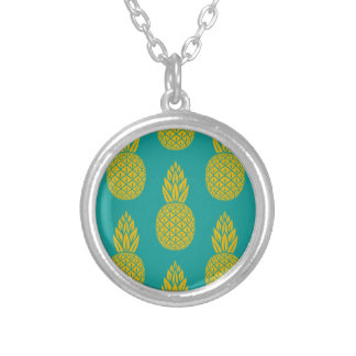 Pineapple Pattern Silver Plated Necklace