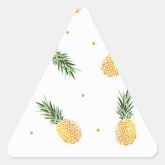 Pineapple Pattern Triangle Sticker