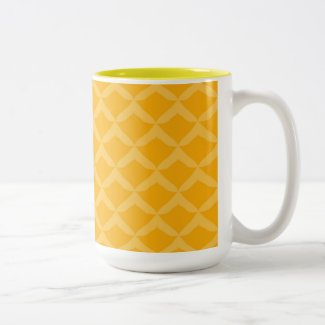 Pineapple Pattern... Two-Tone Coffee Mug