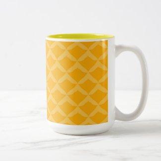 Pineapple Pattern... Two-Tone Coffee Mug