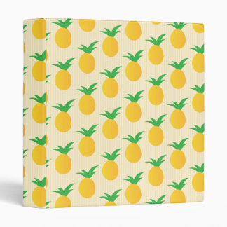 Pineapple Pattern Yellow Green Binder