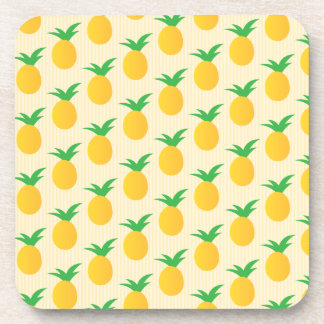 Pineapple Pattern Yellow Green Drink Coaster