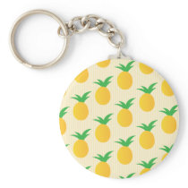 Pineapple Pattern Yellow Green Keychain