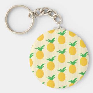 Pineapple Pattern Yellow Green Keychain
