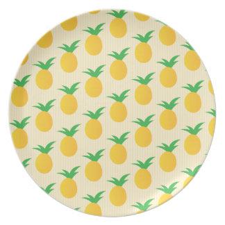 Pineapple Pattern Yellow Green Plate