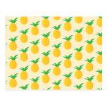 Pineapple Pattern Yellow Green Postcard