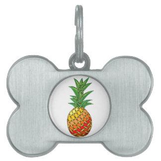 Pineapple Pet Name Tag