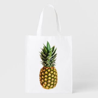 Pineapple photo reusable grocery shopping bag market totes
