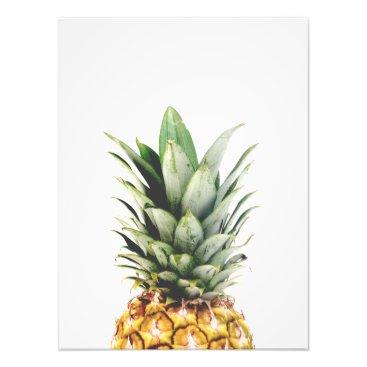 Art Themed Pineapple Portrait Photo Print