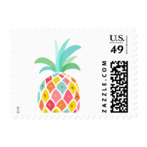 Pineapple Postage Stamps Tropical Summer party