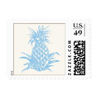 Pineapple postcard stamp