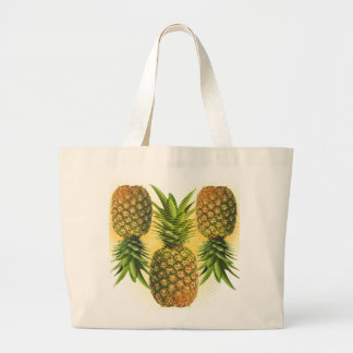 Pineapple Power Large Tote Bag