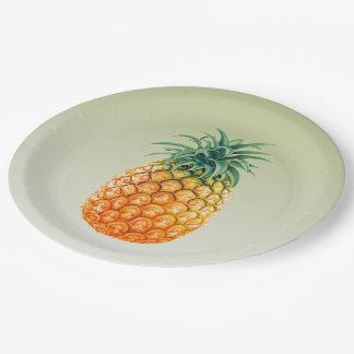 Pineapple Princess Paper Plate