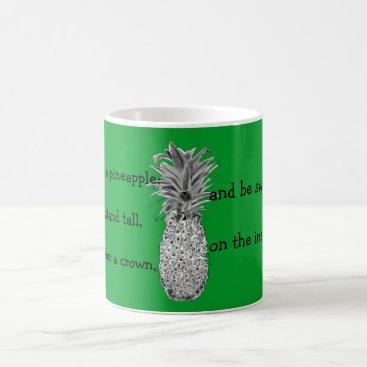 Coffee Themed Pineapple Print Coffee Mug