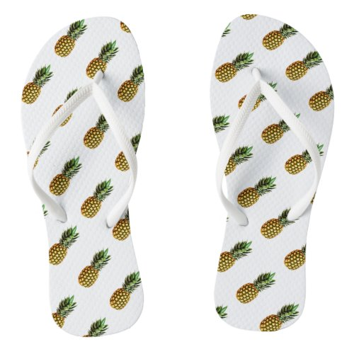 Pineapple print flip flops | Custom beach slippers