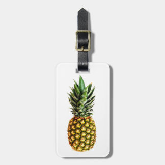 Pineapple print luggage tags