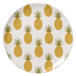 Pineapple Print Dinner Plates