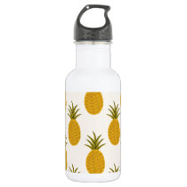 Pineapple Print Stainless Steel Water Bottle