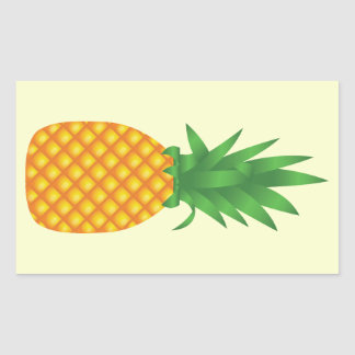 cartoon pineapple stickers zazzle. Black Bedroom Furniture Sets. Home Design Ideas