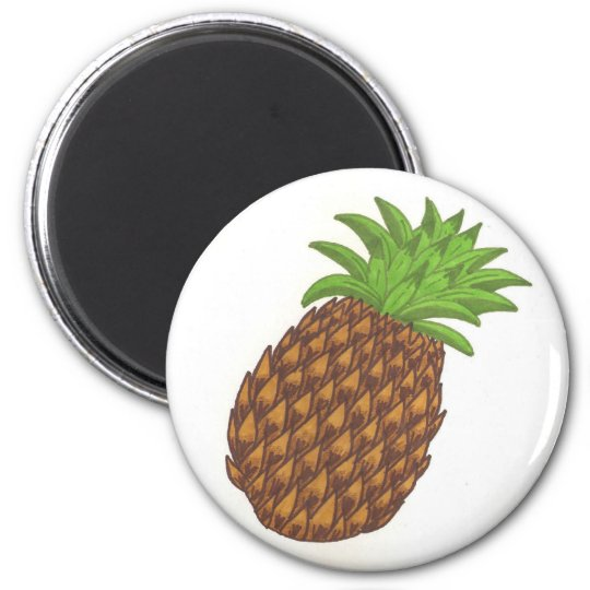 Pineapple refrigerator magnet
