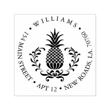 Professional Business Pineapple Return Address Self-inking Stamp