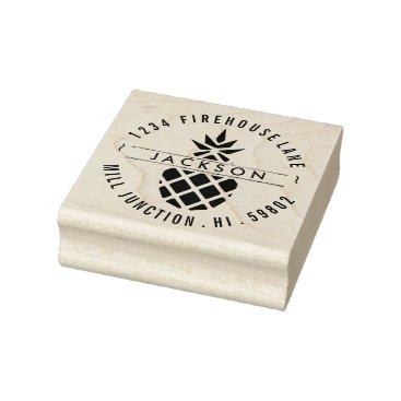 WaterwheelStampCo Pineapple Return Address Stamp