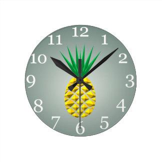 Pineapple Round Clock