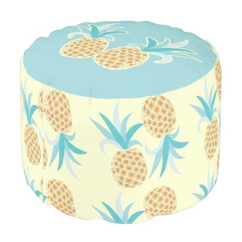 Pineapple Round Pouf