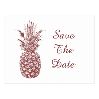 Pineapple Save The Date Postcards
